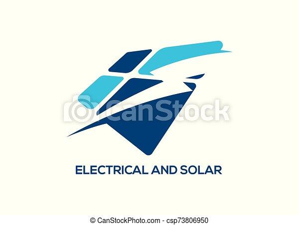 electric Vector lightning icon logo and symbols - csp73806950