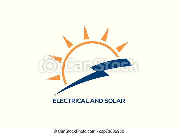 electric Vector lightning icon logo and symbols - csp73806932