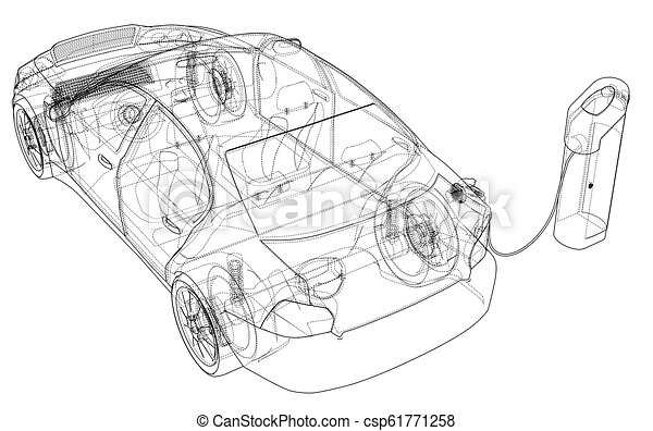 Electric Vehicle Charging Station Vector Clipart Eps Images 1978