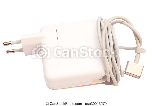 Electrical adapter to USB port on a white background  - csp30013279