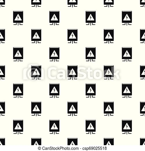 Electrical box pattern seamless vector - csp69025518