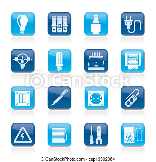 Electrical devices icons - csp13302084