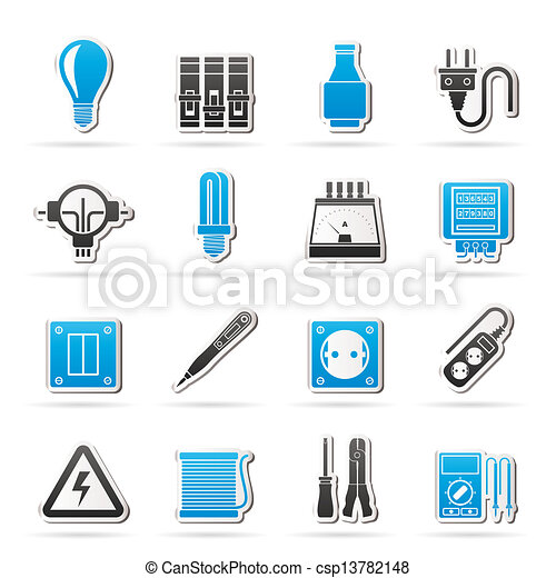 Electrical Devices Icons Vector