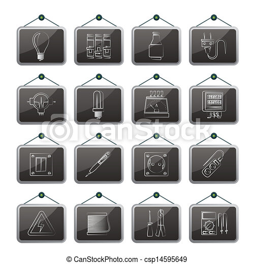 Electrical devices icons - csp14595649