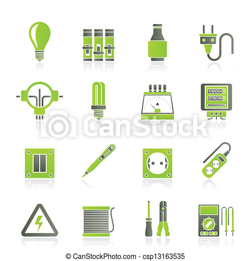 Electrical devices icons - csp13163535