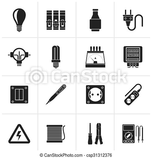 Electrical devices icons - csp31312376