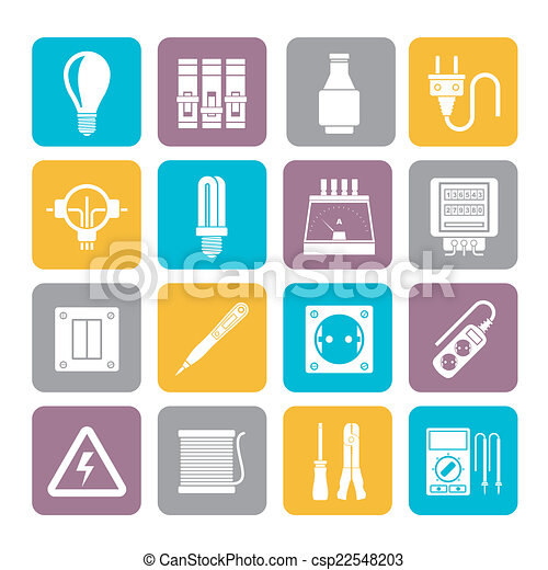 Electrical devices icons - csp22548203