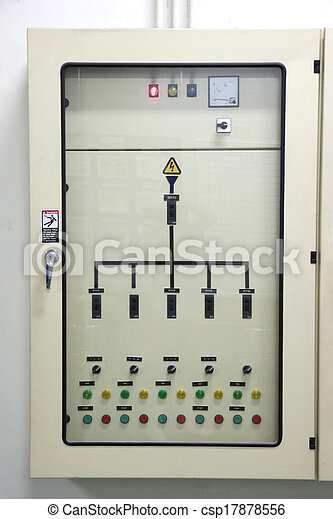 Electrical energy control cabinet. - csp17878556