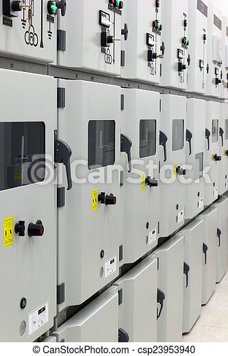Electrical energy distribution substation - csp23953940