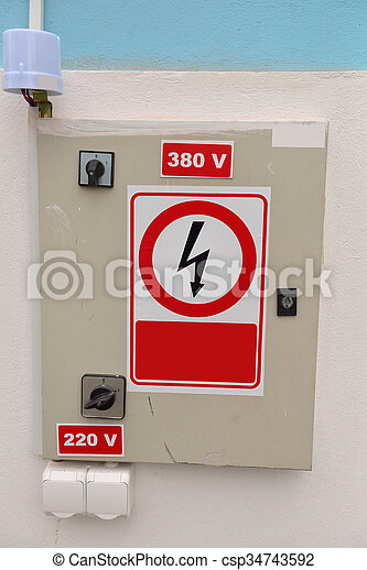 Electrical energy distribution substation. High-voltage. - csp34743592