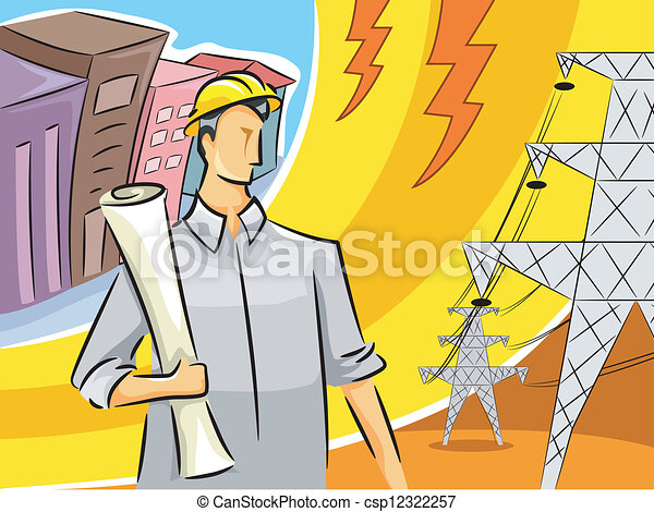 Electrical Engineer Guy Illustration Of An Clipart