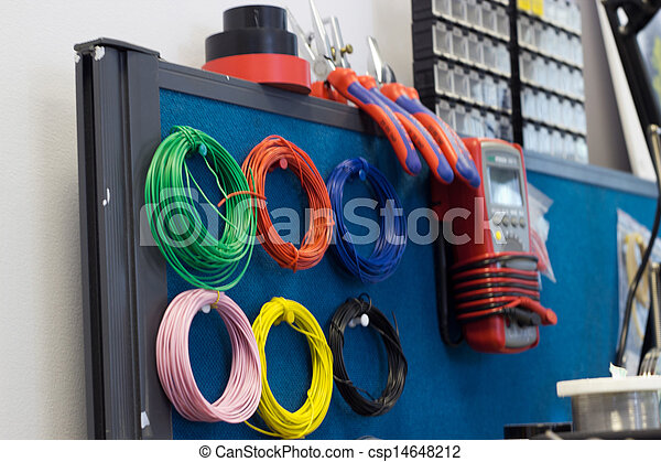 Electrical Engineer Tools Stock Photo