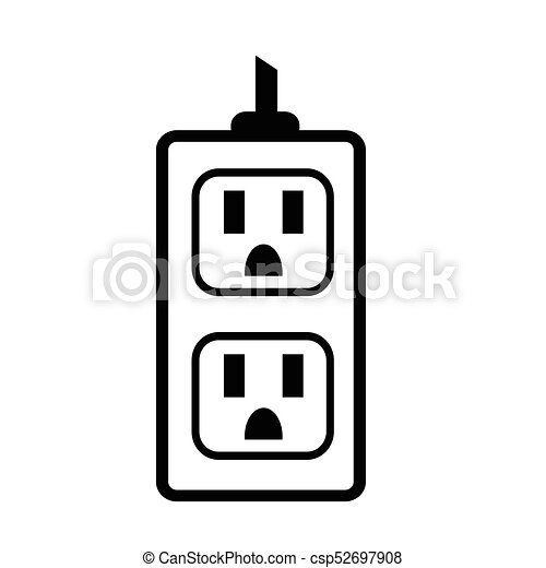 electrical outlet icon rh canstockphoto com electrical outlet cad drawing power outlet drawing