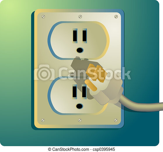 Electrical outlet, US Style - csp0395945