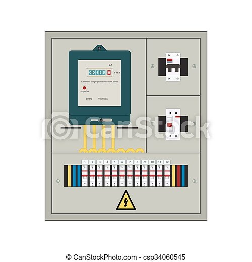 Electrical panel, box. Picture of the electrical panel, electric ...
