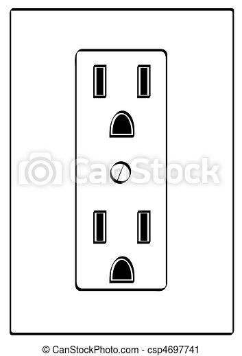 outline of grounded electrical power outlet rh canstockphoto com electrical outlet drawing autocad blocks power outlet drawing symbol