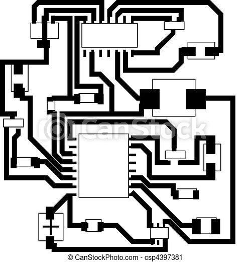 Electrical scheme. Electric scheme for design use. vector... vector ...