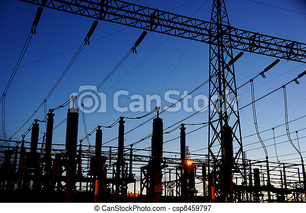 electrical substation silhouette - csp8459797