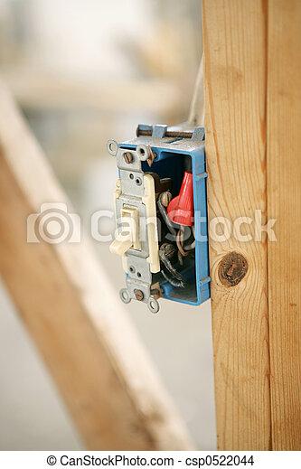 Electrical Switch Closeup - csp0522044