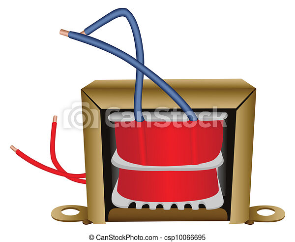 Electrical transformer Illustration of an electric eps vectors