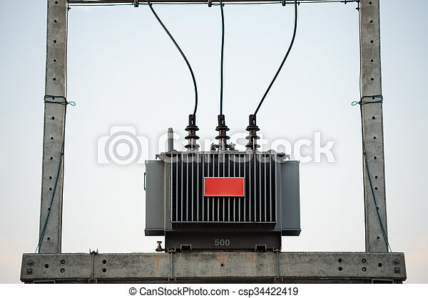 electrical transformer in data room - csp34422419