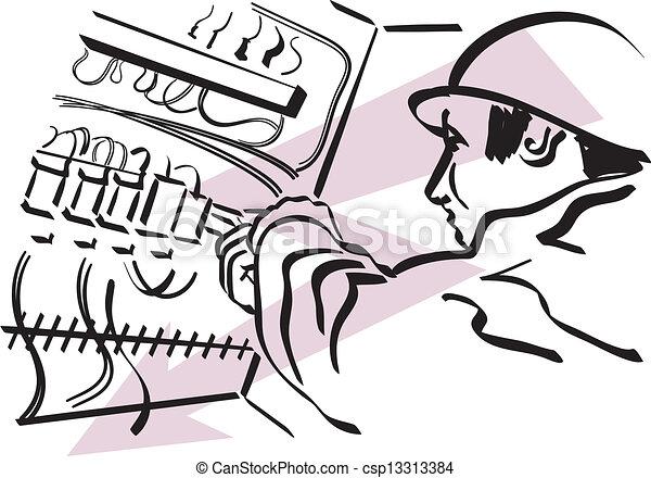 electrician - csp13313384
