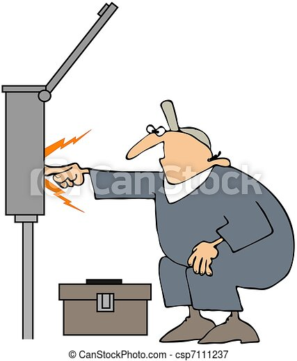Electrician Sparks - csp7111237