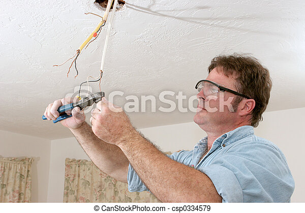 Electrician Straightents Wire - csp0334579