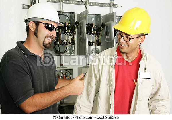 Electricians - Good Work - csp0959575
