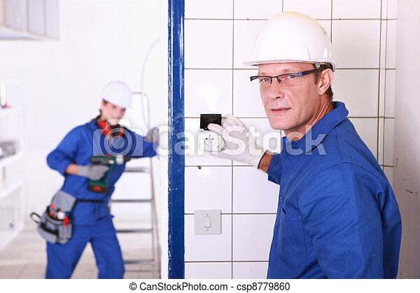Electricians - csp8779860