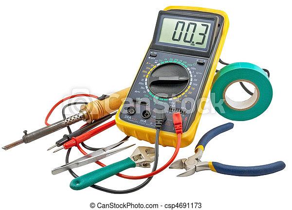 Electricians tools - csp4691173