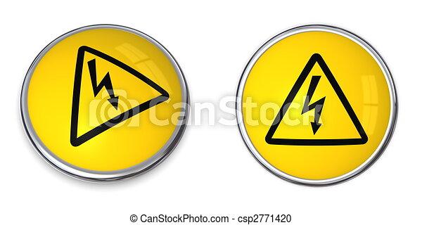 Un símbolo de la electricidad de botones - csp2771420