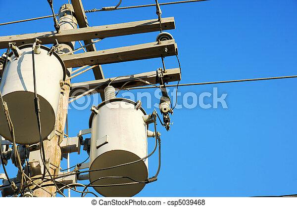 electricidad, cielo, transformadores - csp5039468