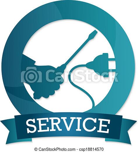Emblema de servicio eléctrico - csp18814570