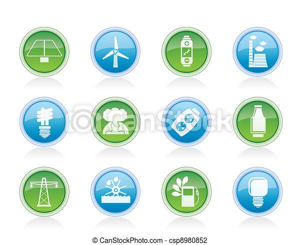 Energía, energía y iconos eléctricos - csp8980852