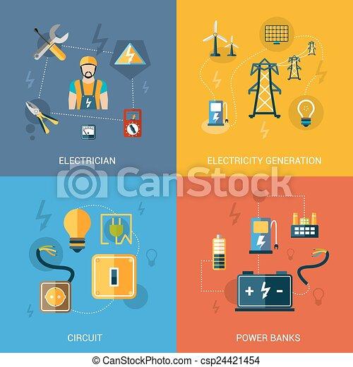 Un set de electricidad - csp24421454