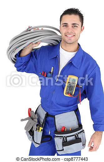 electricista, guapo - csp8777443