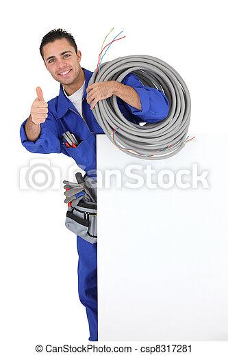 electricista, joven - csp8317281