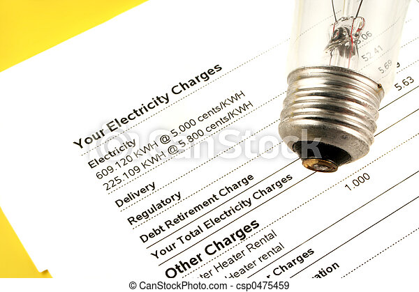 electricity bill - csp0475459