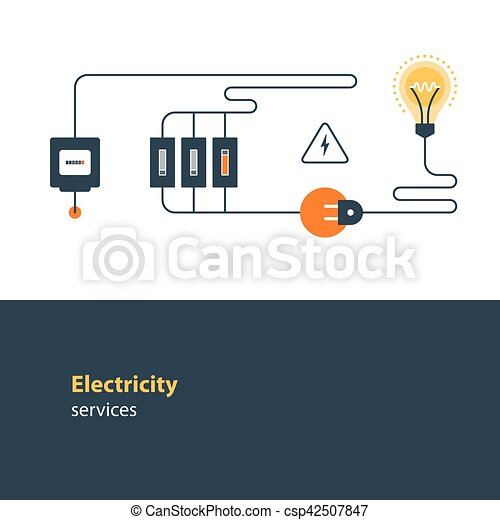 Electricity Connection Electrical Services And Supply Energy Saving Vector