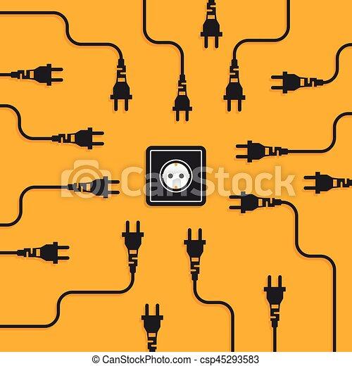 Electricity flat design concept - csp45293583