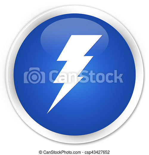 Electricity icon premium blue round button - csp43427652