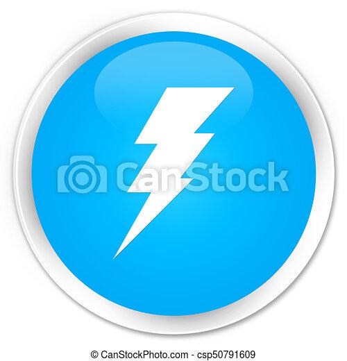 Electricity icon premium cyan blue round button - csp50791609