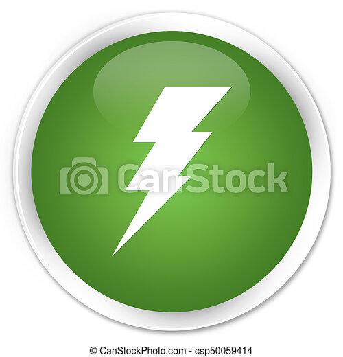 Electricity icon premium soft green round button - csp50059414