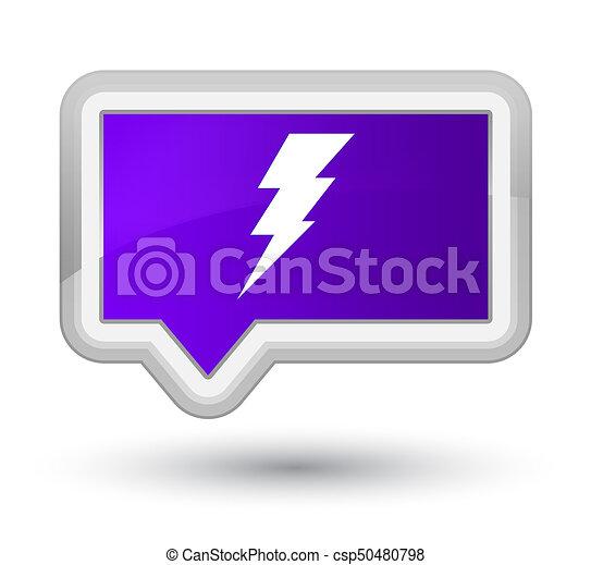 Electricity icon prime purple banner button - csp50480798
