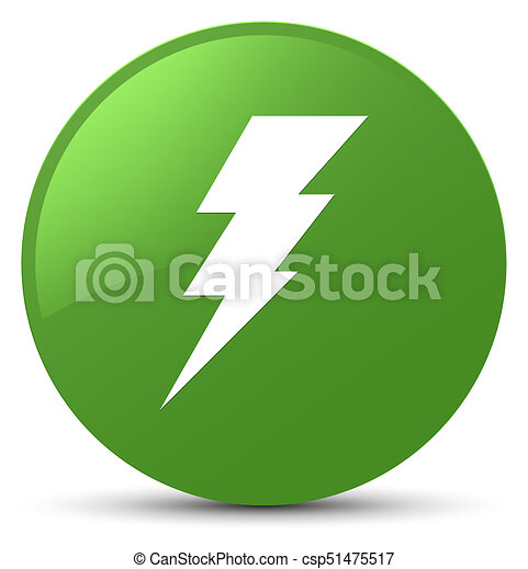 Electricity icon soft green round button - csp51475517