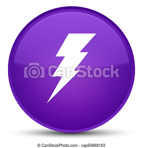 Electricity icon special purple round button - csp50668163