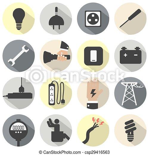 Electricity Power Icons Set. - csp29416563