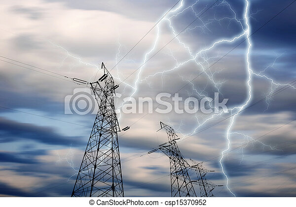 Electricity Towers - csp15370952