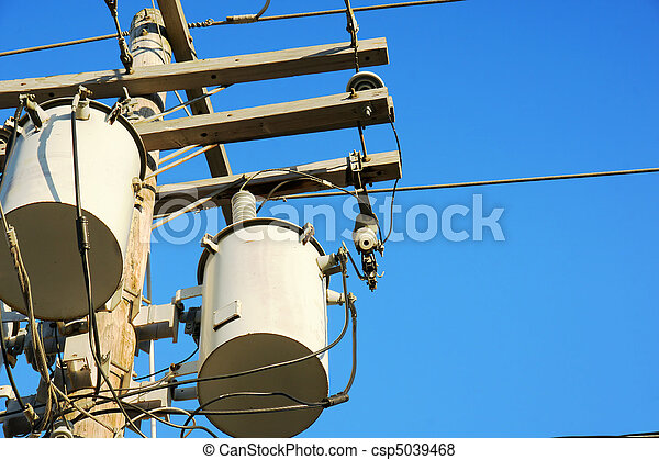 Electricity transformers and sky - csp5039468